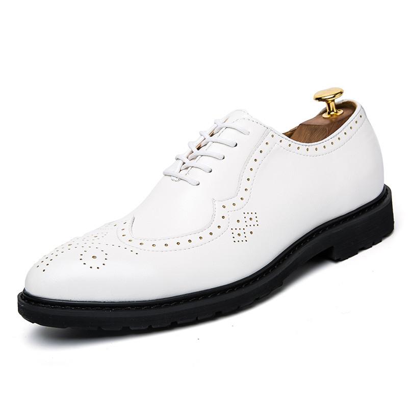Italian leather men\'s shoes luxury brand men\'s formal dress elegant ...